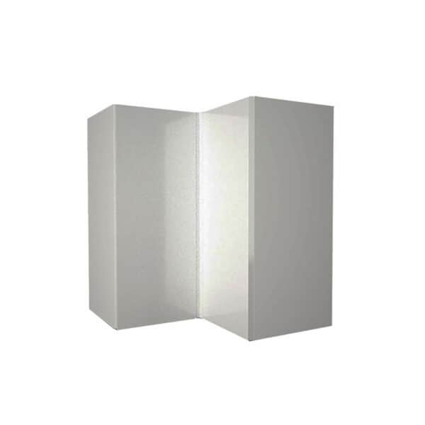 High Gloss Slab Grey 635mm Corner Wall Unit