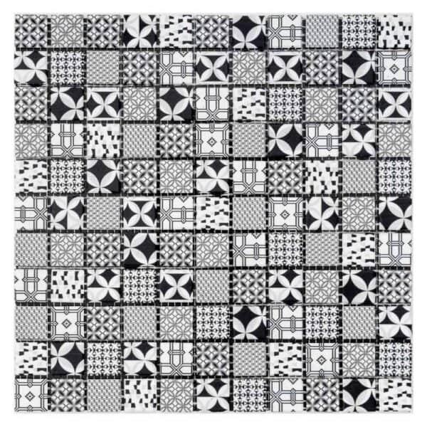 House of Mosaics Casablanca Monochrome Self Adhesive Mosaic Tile Glass