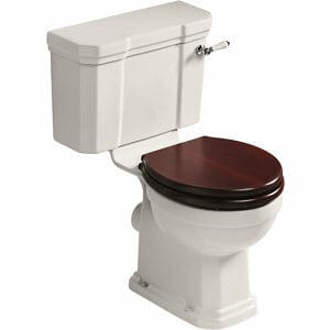 Ideal Standard Waverley Traditional Close-coupled Boxed rim Toilet set with Soft close seat