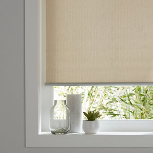 Iggy Corded Natural Plain Daylight Roller Blind (W)90cm (L)180cm