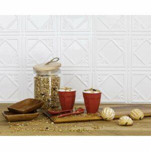 Innovera Decor 3D Design Wall Tile - Kitchen Splashback Cladding Panels (Art Nouveau - White, Set of 6)