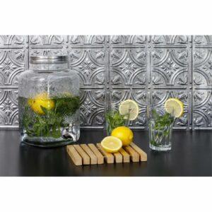 Innovera Decor 3D Design Wall Tile - Kitchen Splashback Cladding Panels ( Empire - Silver, Set of 6)