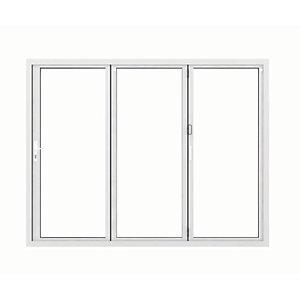 Jci Aluminium Bi-fold Door Set White Left Opening 2090 x 2690mm