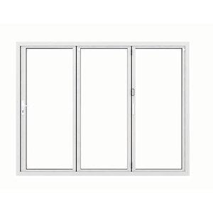 Jci Aluminium Bi-fold Door Set White Left Opening 2090 x 2990mm