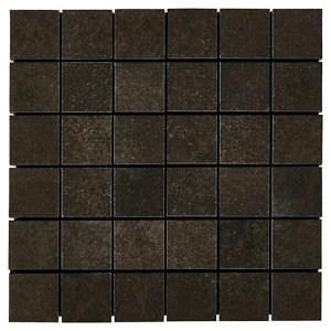 Kontainer Anthracite Concrete effect Porcelain Mosaic tile sheets (L)305mm (W)305mm