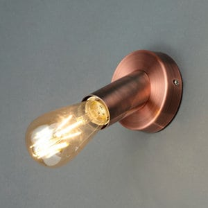 Lapetus Industrial Copper effect Wall light