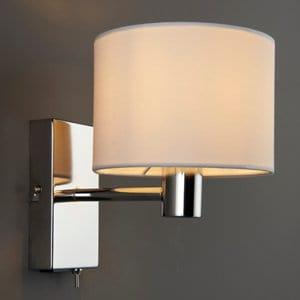 Larsson Polished Chrome effect Wall light