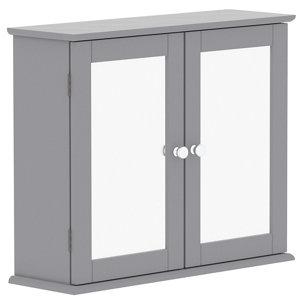 Lassic Rebecca Jones Matt Grey Mirrored Double door Wall Cabinet (W)570mm (H)470mm