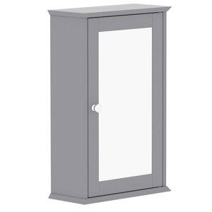 Lassic Rebecca Jones Matt Grey Mirrored Single door Wall Cabinet (W)340mm (H)530mm