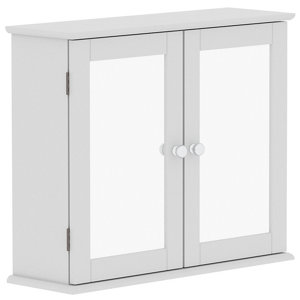 Lassic Rebecca Jones Matt White Mirrored Double door Wall Cabinet (W)570mm (H)470mm