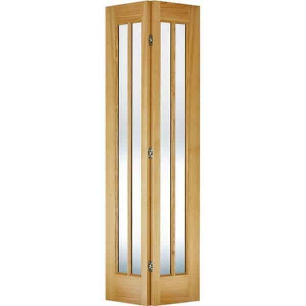 Lincoln Internal Glazed Bi-fold Prefinished Oak 4 Lite Door - 686 x 1981mm