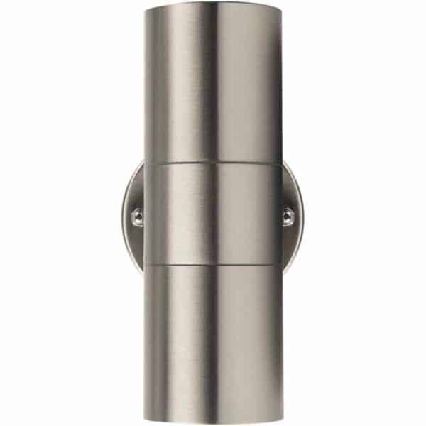 Luceco Exterior Decorative Stainless Steel IP54 GU10 Up/Down Wall Light