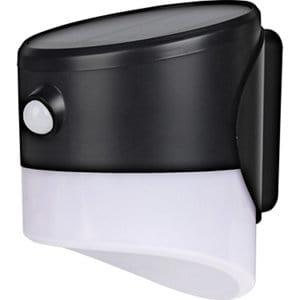 Luceco Non-adjustable Black Solar-powered Integrated LED PIR Motion sensor Outdoor Wall light