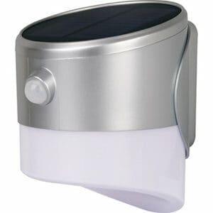 Luceco Non-adjustable Grey Solar-powered Integrated LED PIR Motion sensor Outdoor Wall light