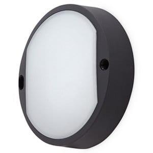 Matt Black Mains-powered LED Outdoor Bulkhead Wall light 460lm