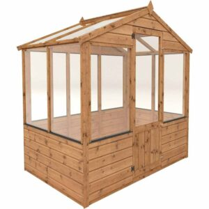 Mercia Garden Products Mercia 4 x 6ft Traditional Greenhouse Wood
