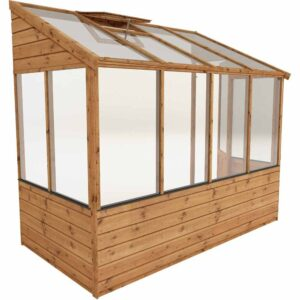 Mercia Garden Products Mercia 8 x 4ft Traditional Lean To Greenhouse Wood