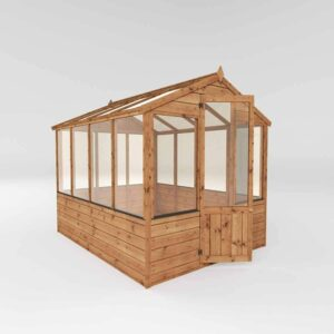 Mercia Garden Products Mercia 8 x 6ft Traditional Greenhouse Wood