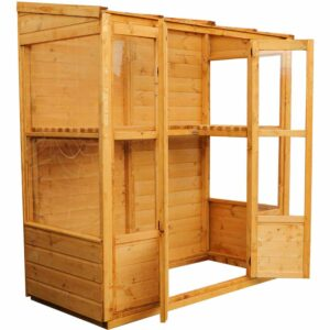 Mercia Garden Products Mercia Tall Wall Greenhouse Growhouse Wood