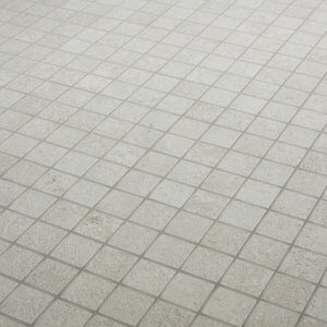 Metal ID Light grey Concrete effect Mosaic Porcelain Mosaic tile (L)305mm (W)305mm