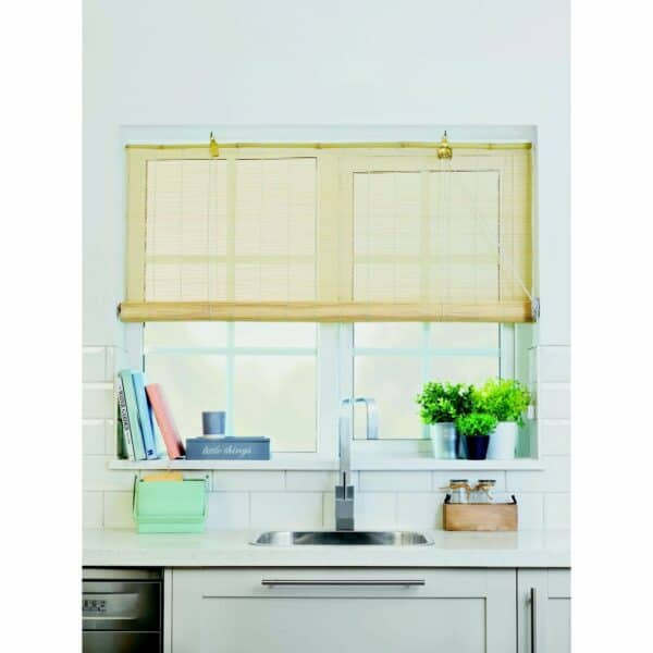 Natural Bamboo Roll Up Blind 180cm
