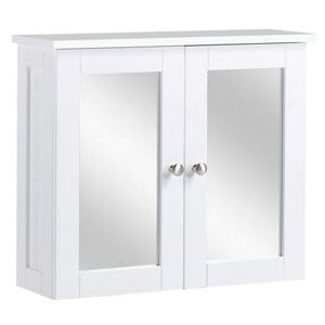 Nicolina White Double door Mirrored Cabinet (W)290mm (D)500mm