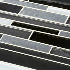 Palermio Brown Glass effect Mosaic Aluminium & glass Mosaic tile (L)298mm (W)294mm