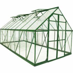 Palram Balance Green 8 x 16ft Greenhouse Polycarbonate, Aluminium, Steel