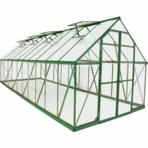 Palram Balance Green 8 x 20ft Greenhouse Polycarbonate, Aluminium, Steel