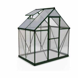 Palram Hybrid Green 6 x 4ft Greenhouse Polycarbonate, Aluminium, Steel