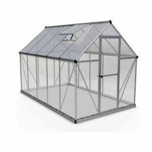 Palram Hybrid Silver 6 x 10ft Greenhouse Polycarbonate, Aluminium, Steel