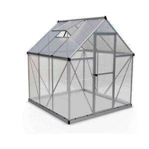 Palram Hybrid Silver 6 x 6ft Greenhouse Polycarbonate