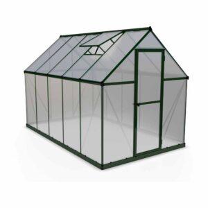 Palram Mythos Green 6 x 10ft Greenhouse Polycarbonate, Aluminium, Steel