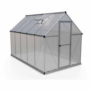 Palram Mythos Silver 6 x 10ft Greenhouse Polycarbonate