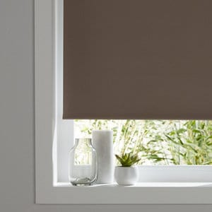 Pama Corded Brown Plain Thermal lined Roller Blind (W)90cm (L)195cm