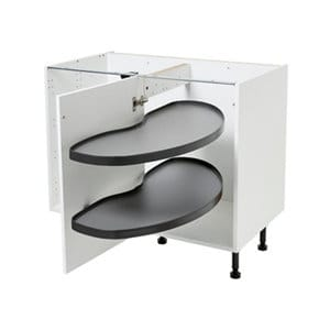 Pebre Matt Anthracite Soft-close LH Pull out storage (H)698mm (W)865mm
