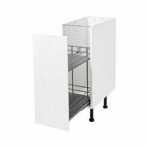 Pebre Matt Anthracite Soft close runners Universal Pull out storage (H)484mm (W)264mm