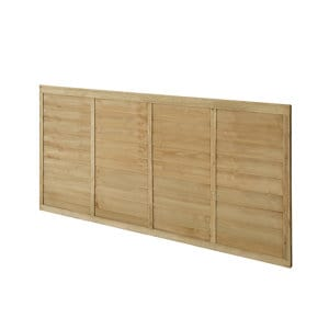 Premier Lap Pressure treated Fence panel (W)1.83m (H)0.91m Pack of 5