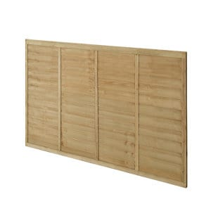 Premier Lap Pressure treated Fence panel (W)1.83m (H)1.22m Pack of 5