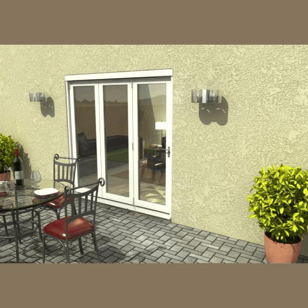 Rohden Slide & Fold Door Set 2100mm - White