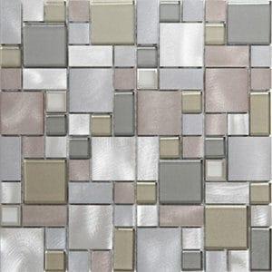 Rovigo Grey Mosaic Mosaic tile (L)304mm (W)292mm