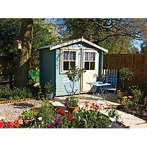 Shire Avesbury 7 x 7ft Traditional Garden Summer House including Opening Window