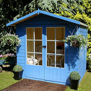 Shire Lumley 7x5 Apex Shiplap Wooden Summer house (Base included) - Assembly service included
