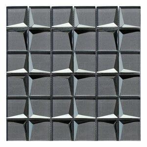 Stargazer Grey Star Glass 2x2 Mosaic tile (L)300mm (W)300mm
