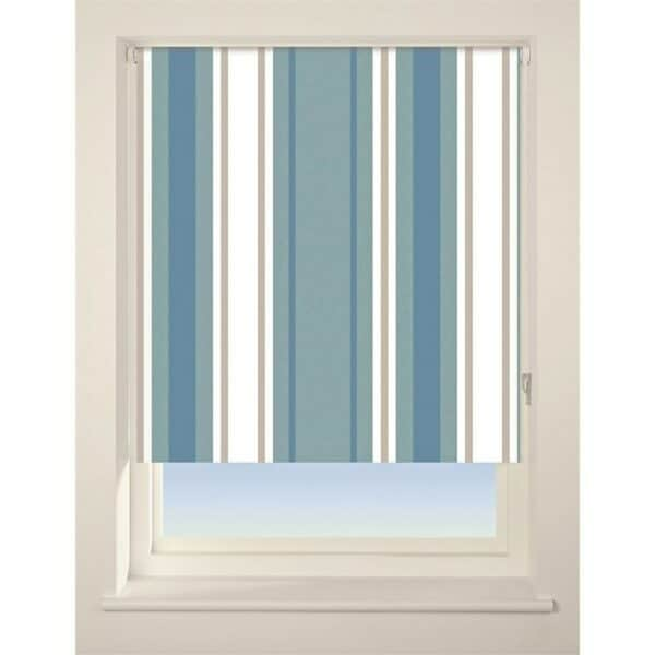 Stripe Roller Blind - 120cm - Blue