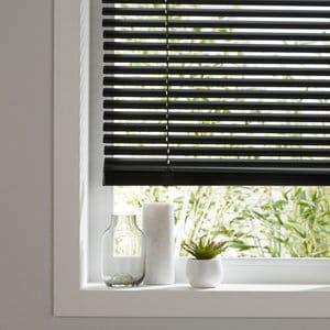 Studio Black Aluminium Venetian Blind (W)160cm (L)180cm