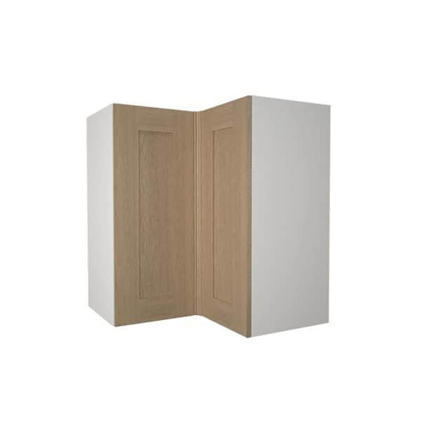 Timber Shaker Oak 635mm Corner Wall Unit