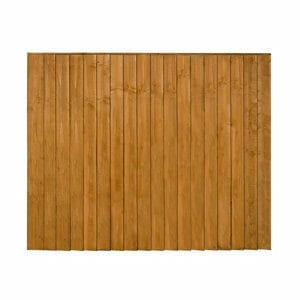 Traditional Feather edge Fence panel (W)1.83m (H)1.54m Pack of 3
