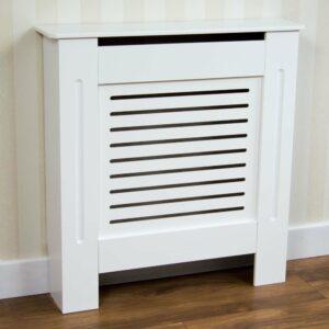 Vida Designs Milton Small White Radiator Cover MDF