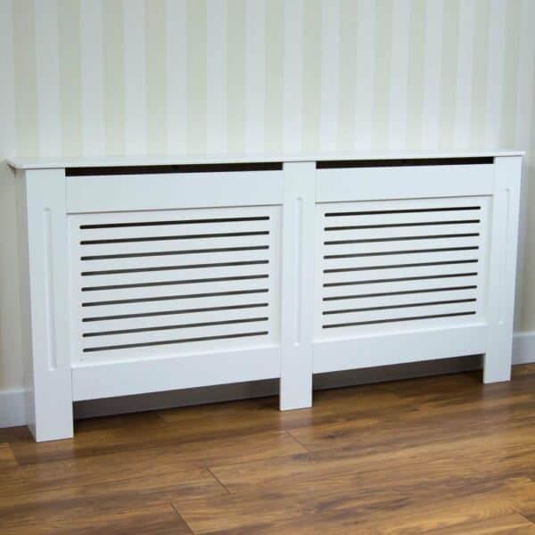 Vida Designs Milton XL White Radiator Cover MDF